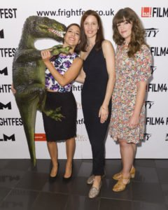 The 15th Film4 Frightfest on 24/08/2014 at The VUE West End, London. The World Premiere of Extinction, cast and crew attend Persons pictured: Sarah Mac, Emma Lillie Lees, Dolores Reynals. Picture by Julie Edwards