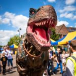 Hire a dinosaur hire a t-rex hire a dino rent a t-rex rent a dinosaur event entertainment town entertainment attractions